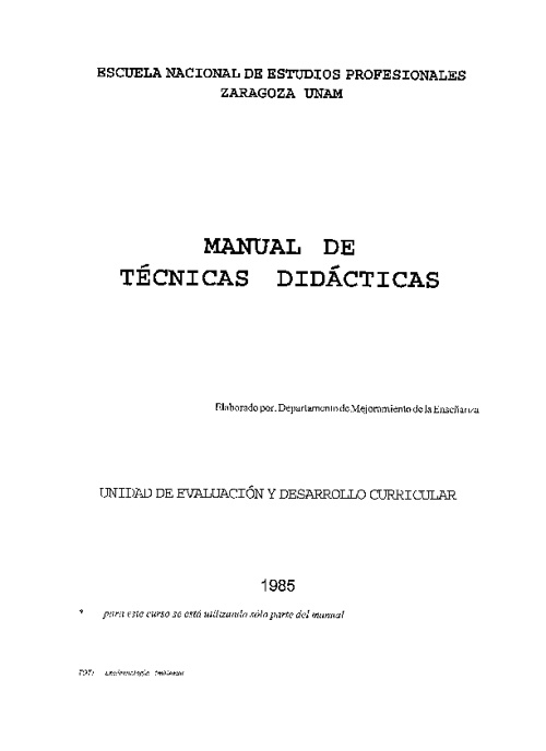 MANUAL TECNICAS DIDACTICAS