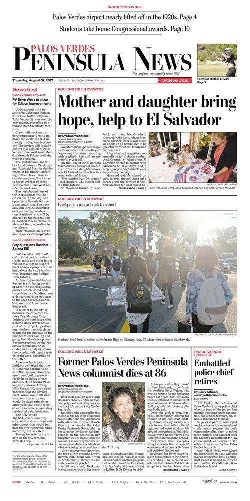 Peninsula News | August 31, 2017