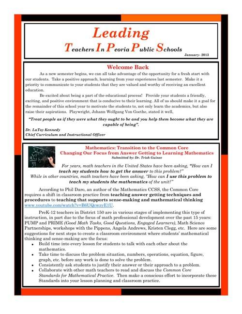 C&I Newsletter - January 2013