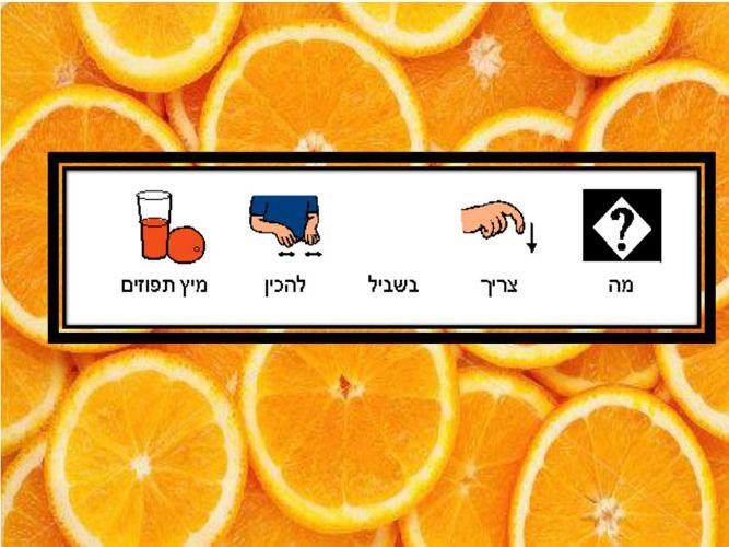 מה צריך בכדי להכין מיץ תפוזים