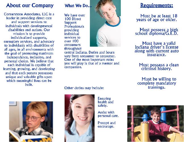 Job Fair Brochure