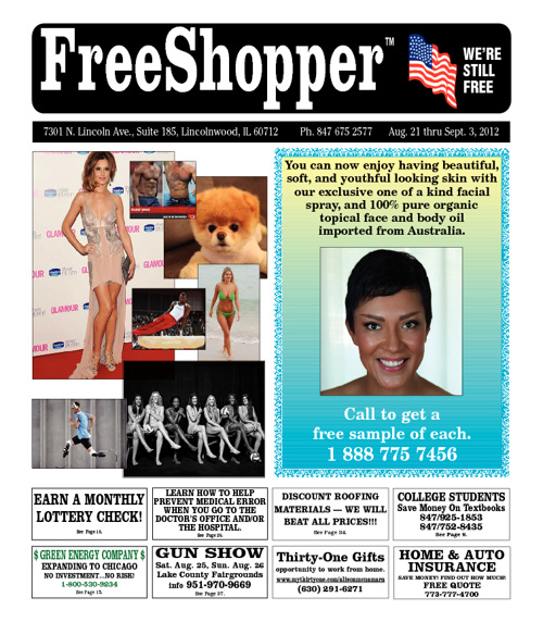 FreeShopper Ad Paper, August 21 - Sept. 3