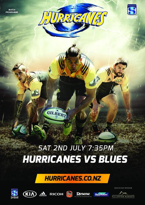 Hurricanes vs Blues 2016 Match Programme e version