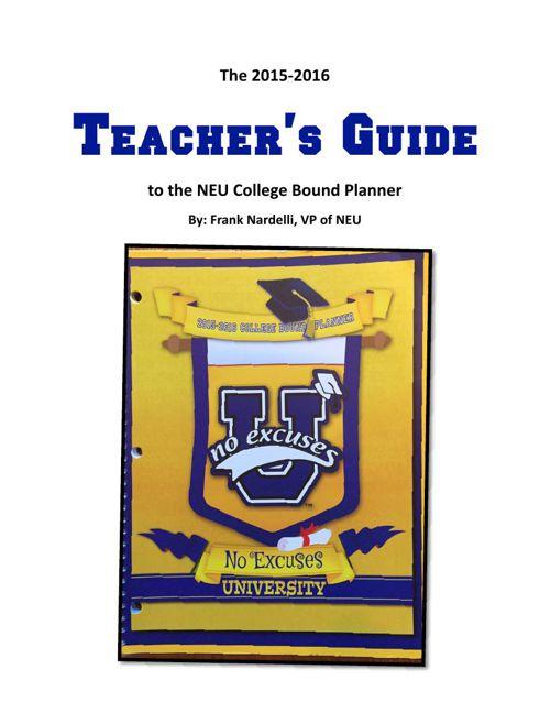 2015-2016 NEU College Bound Planner Teacher's Guide