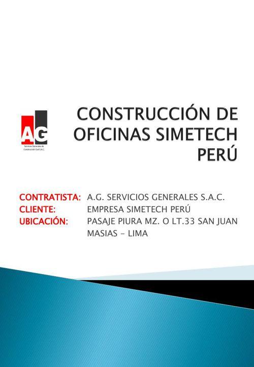 CONSTRUCCIÓN DE OFICINAS SIMETECH PERÚ