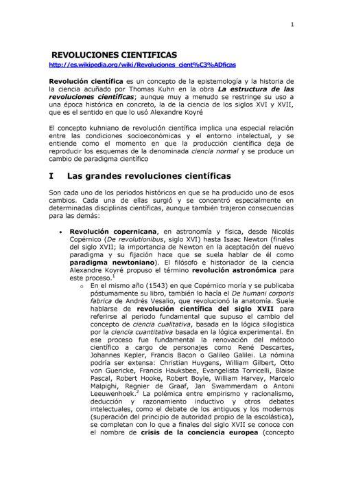 1.1.2  LA REVOLUCION CIENTIFICA DE LOS SIGLOS XVI XVII