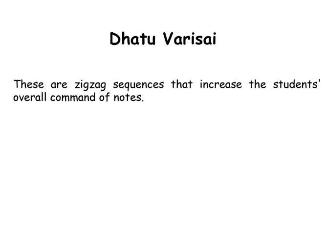 Dhatu Varisai