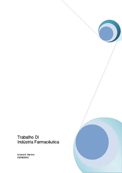 Trabalho DI - Indústria Farmacêutica