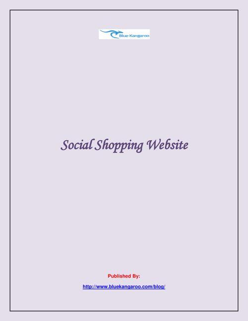 Social Shopping Website