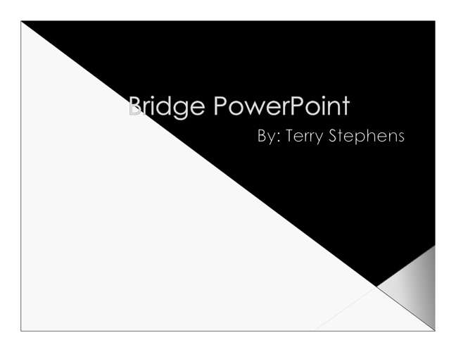 Bridge powerpoint