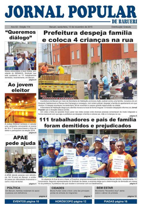 Versão On line da 114ª edição do Jornal Popular de Barueri