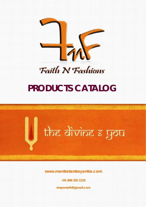 Faith Fashions & Belief Pvt Ltd - Products Catalog