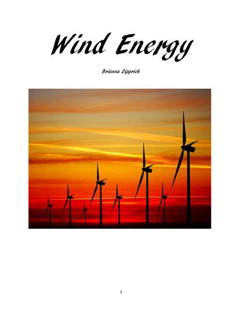 Wind Energy Flipbook