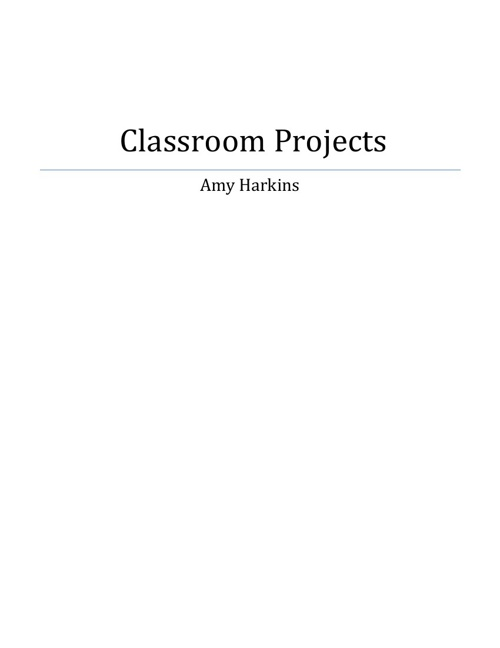 Classroom Projects for Harkins