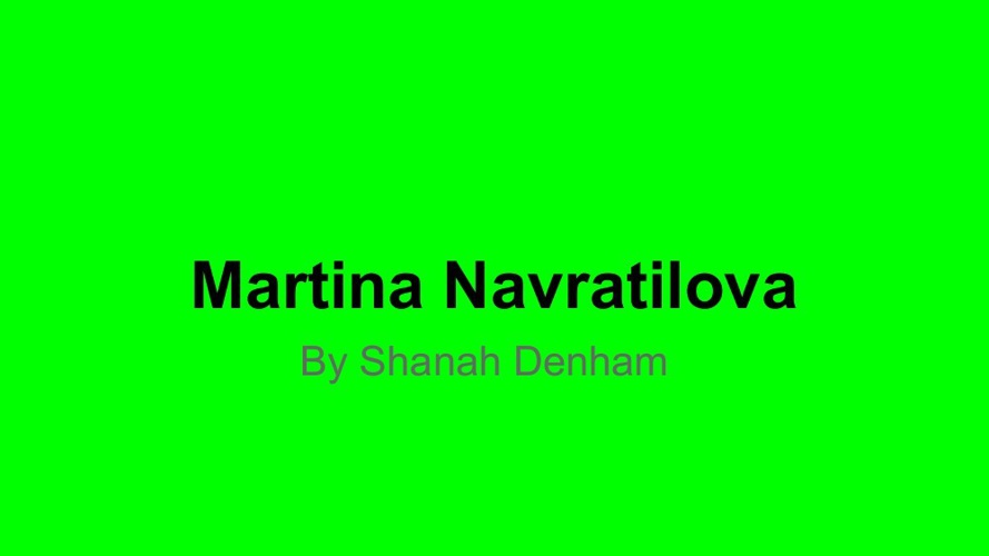 Copy of Martina Navratilova