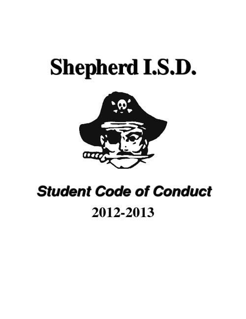 SISD Student Code of Conduct 2012-13