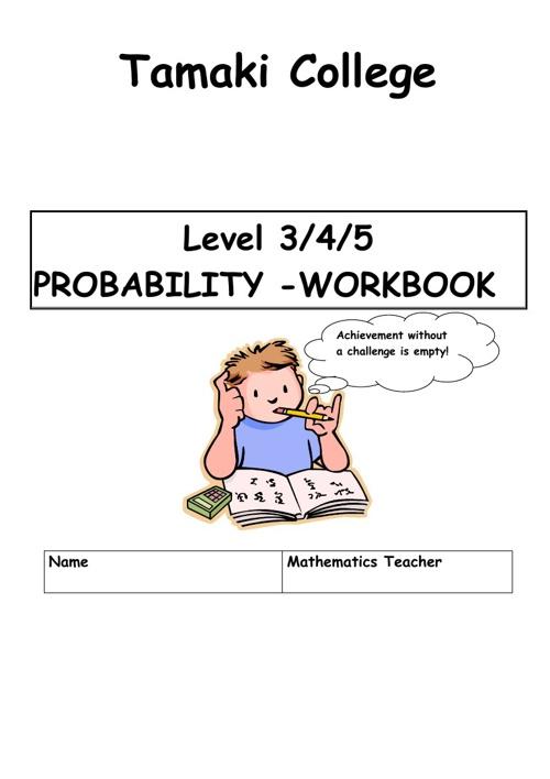 Probability workbook