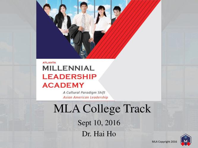 MLA College Track Day 1 publish