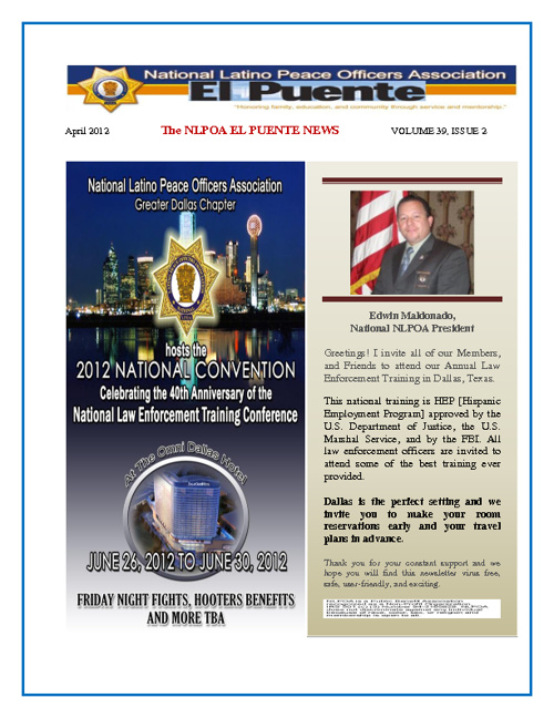 NLPOA El Puente Newsletter - April
