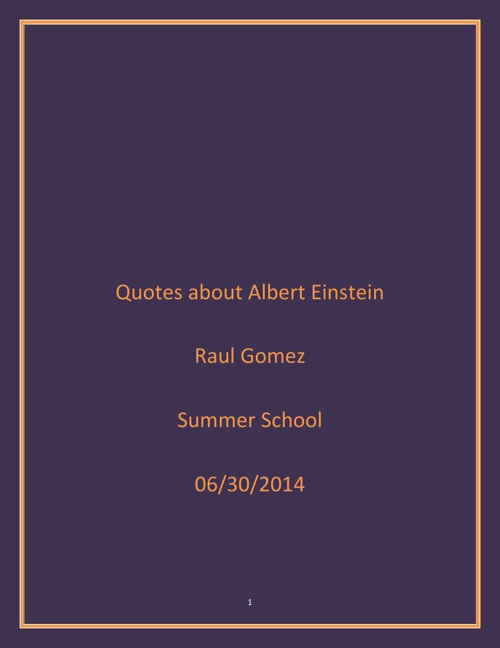 Quotes about Albert Einstein