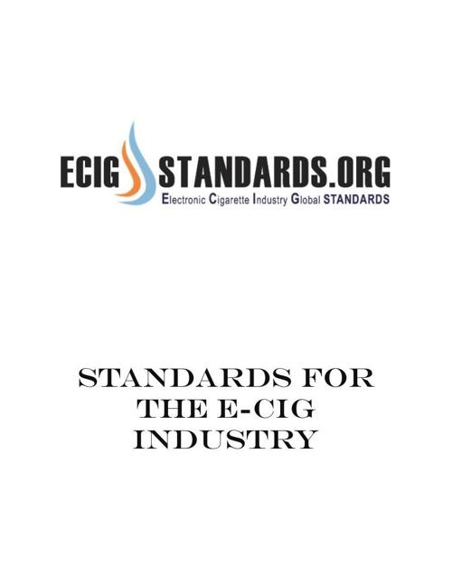 EcigStandards.org