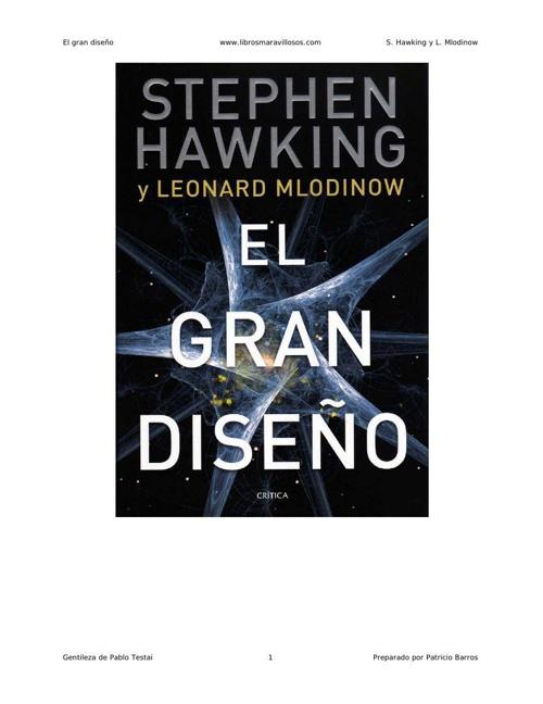 El gran diseno - S Hawking y L Mlodinow (2)