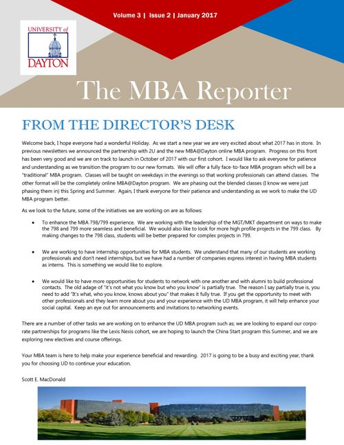 MBA Reporter January 2017
