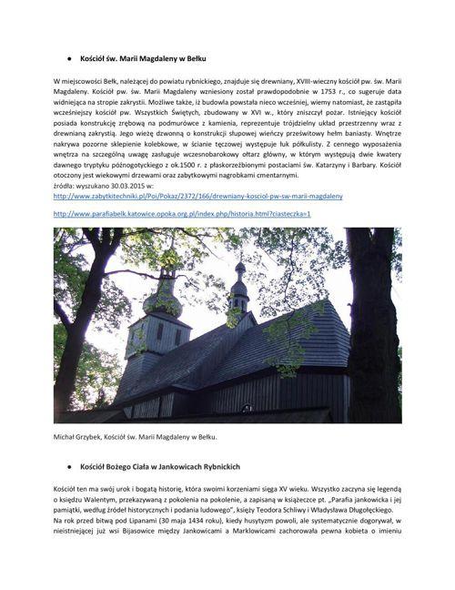 Szlakiem zabytków architektury drewnianej