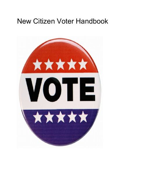 New Citizen Voter Handbook