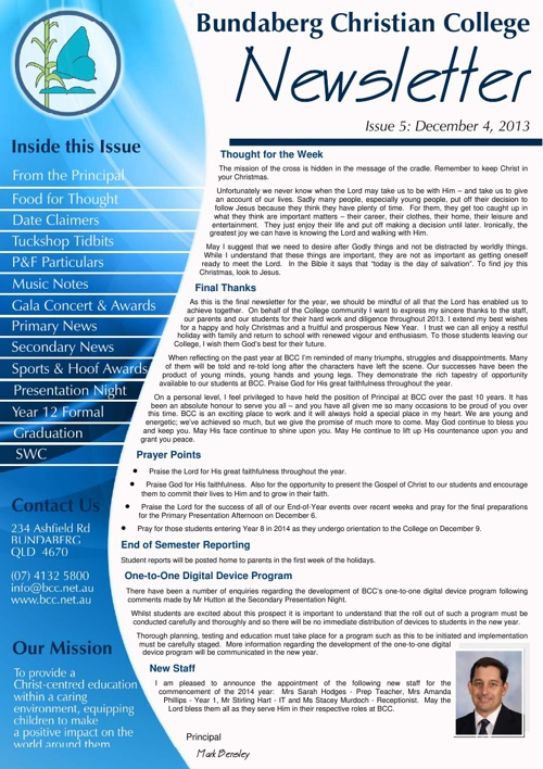 BCC Printable eNewsletter Edition 1 - February 2014