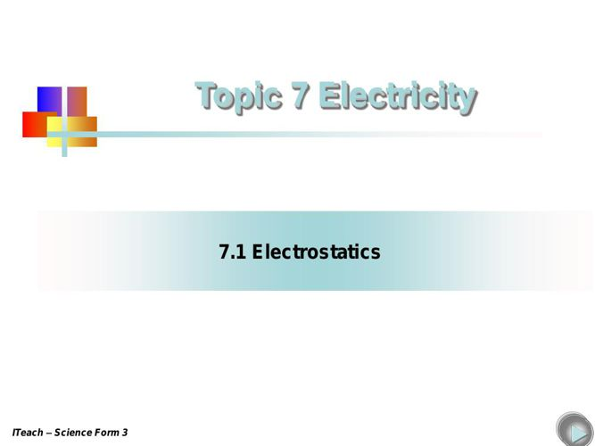 chapter 7 - Electrostatics