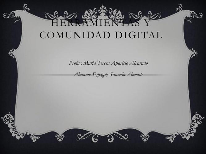 Herramientas y comunidad digital