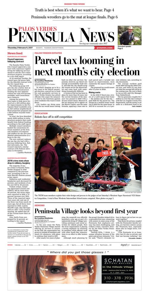 Peninsula News   February 9, 2017