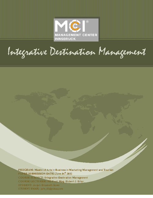 Integrative Destination Management