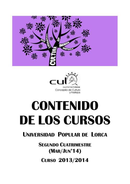 PROGRAMACIÓN UNIVERSIDAD POPULAR (FEB-JUN 2014) - SOLO CONTENIDO