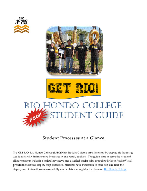 Get RIO! New Student Guide - Welcome!
