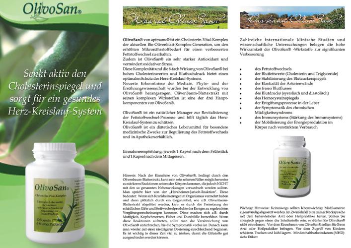 OlivoSan® Produktinformationen