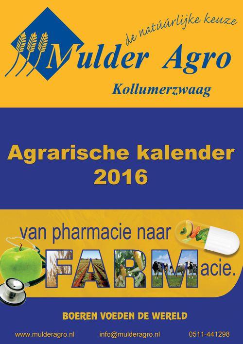 Mulder Agro Agrarische kalender 2016