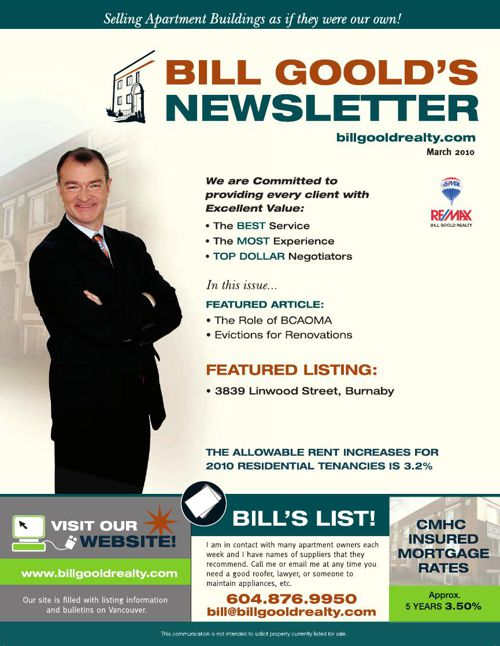 Bill Goold Newsletter Mar 2010