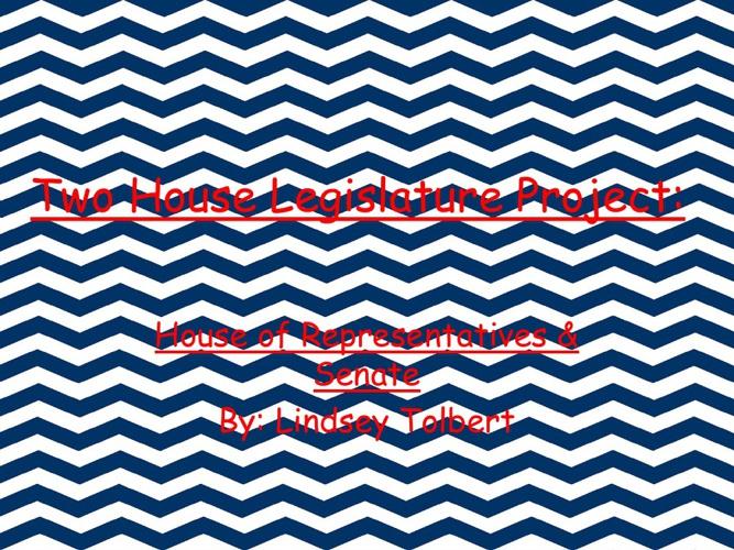 Two House Legislature Project