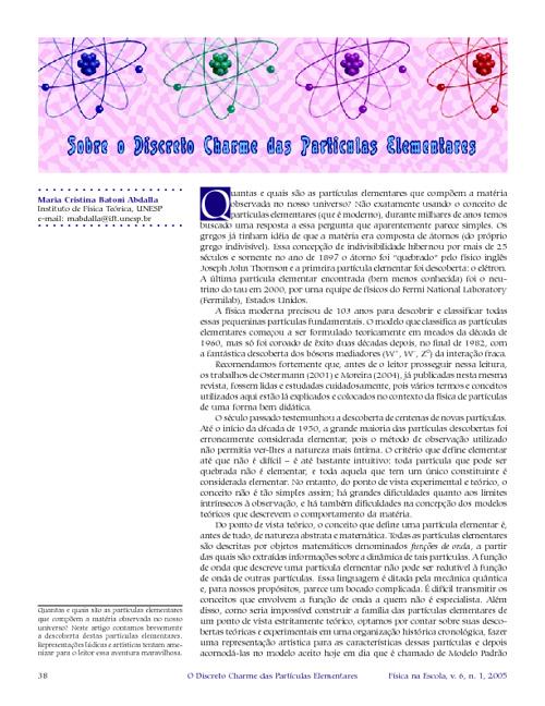 Sobre o discreto charme das partículas elementares