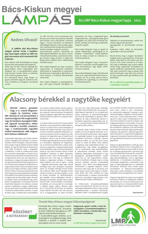 Bács megyei lámpás újság 1