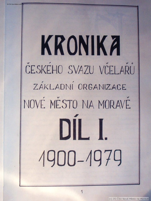 Kronika ZO ČSV Nové Město na Moravě 1900 - 1979
