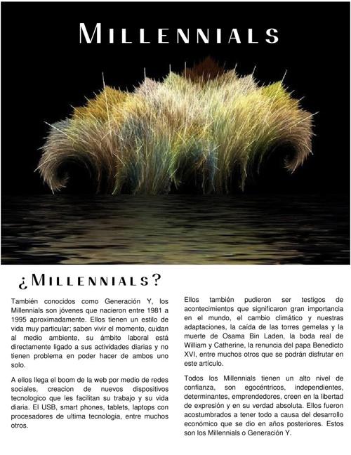 """Generación Y: """"Millennials"""""""