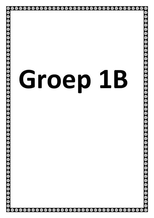 Groep 1B