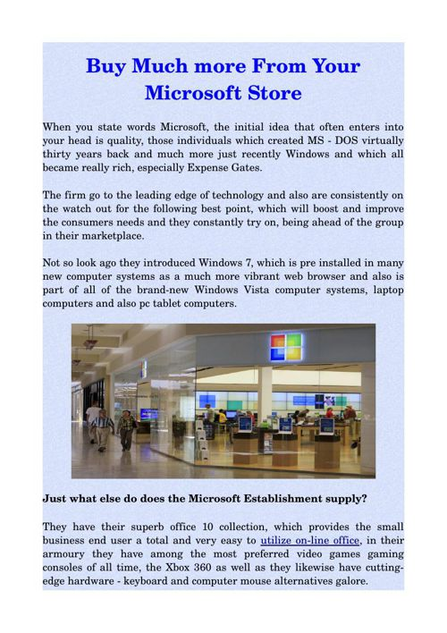 Buy Much more From Your Microsoft Store