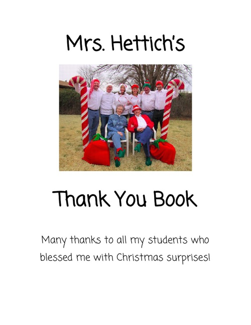 Mrs. Hettich's Thank You Book