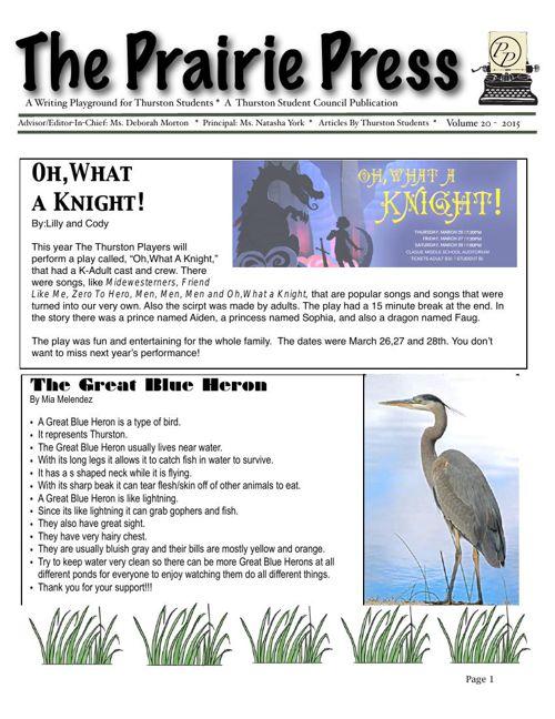 Prairie Press Newspaper vol 20