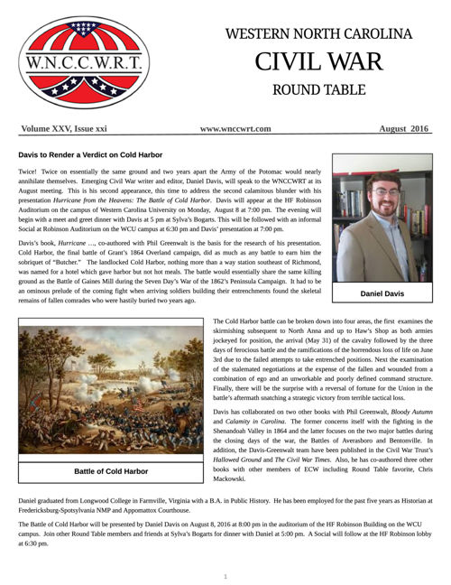 WNCCWRT 2016 09 August Newsletter