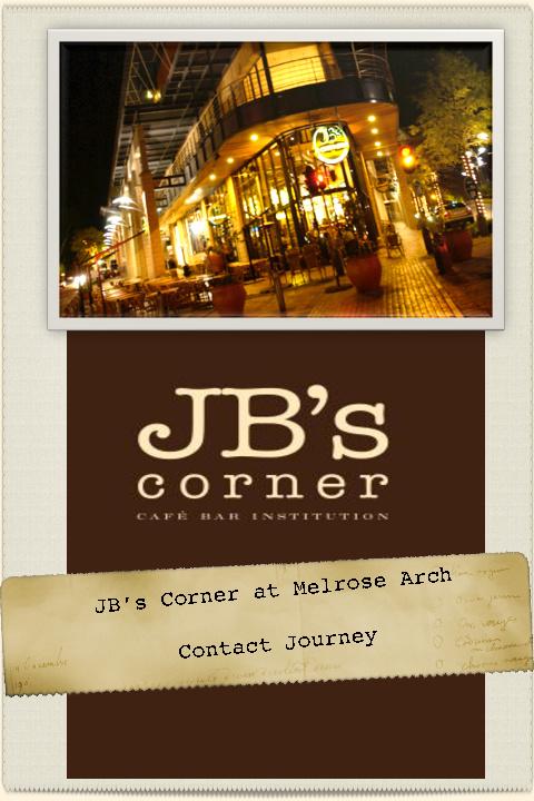 JB's Corner: Contact Journey